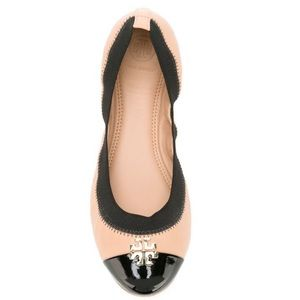 Tory Burch Jolie Two Tone Ballet Flats 8.5